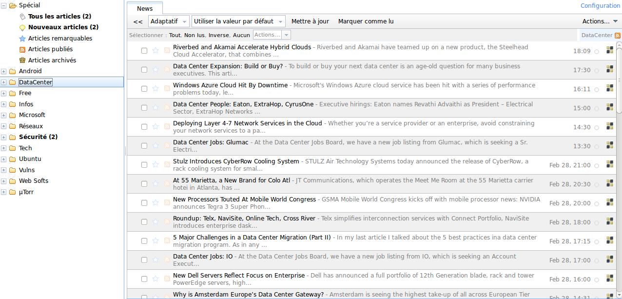 Tiny Tiny RSS HomePage