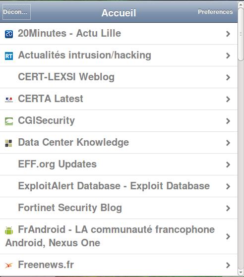 Tiny Tiny RSS Mobile Web